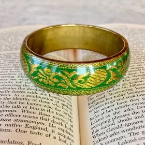 Brass and Resin Bangle